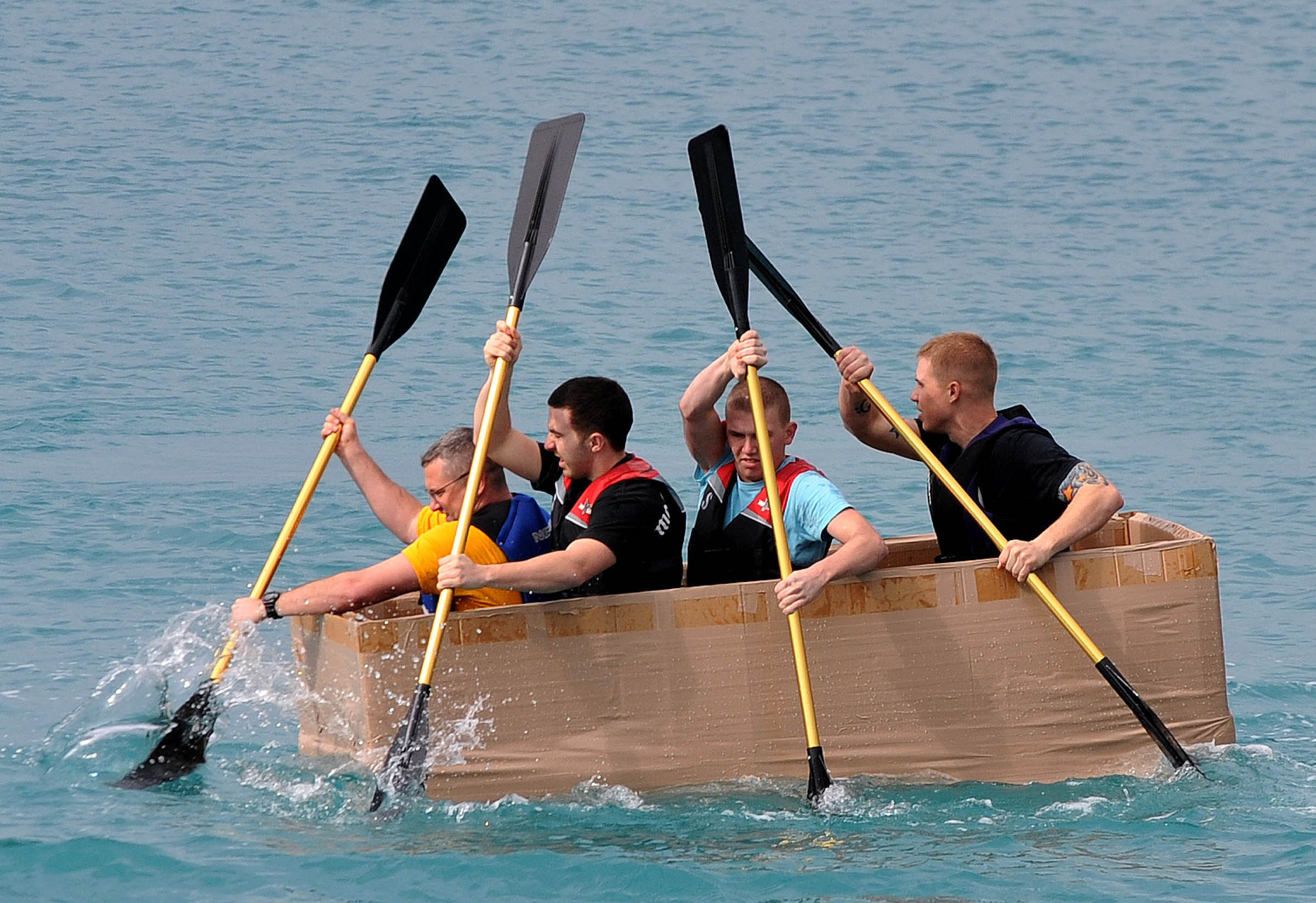 How To Build A Cardboard Boat In  Hours