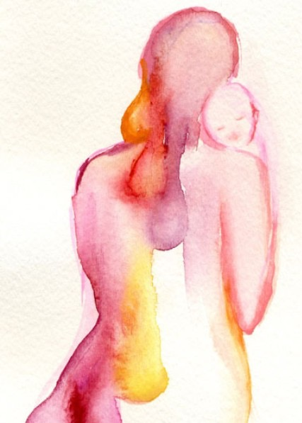 Mom watercolor